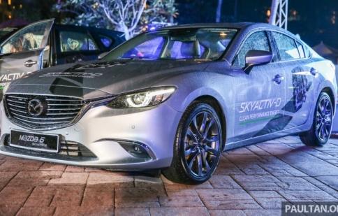 Mazda 6 trang bị động cơ diesel ra mắt tại Malaysia