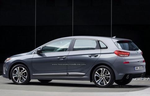 Hyundai i30 2017 lộ hình ảnh phác thảo