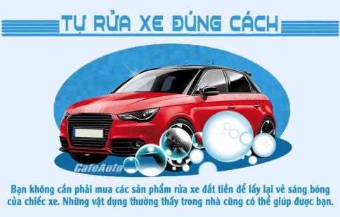 Infographic: Tự rửa xe đúng cách